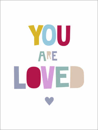 Hout print  You are loved - Heyduda
