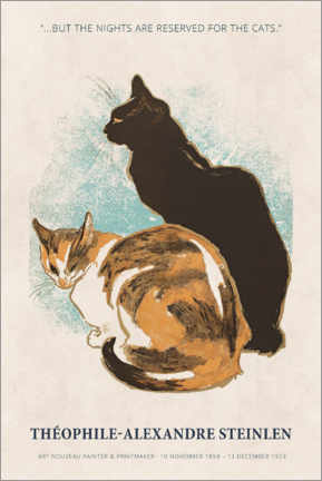 Hout print  Théophile-Alexandre Steinlen - Reserved for the cats - Museum Art Edition