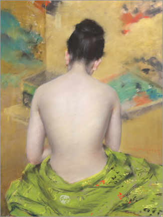 Acrylglas print  Study of Flesh Color and Gold - William Merritt Chase