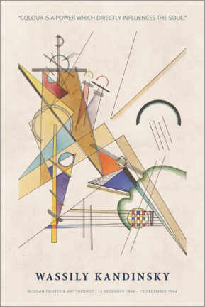 Premium poster  Wassily Kandinsky - Colour is a power - Museum Art Edition