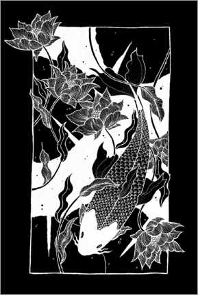 Canvas print  Flow - Japanese koi carp fish - Chromakane