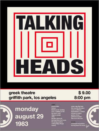 Premium poster Talking Heads