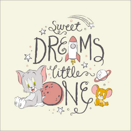 Canvas print  Tom & Jerry - Sweet dreams little one