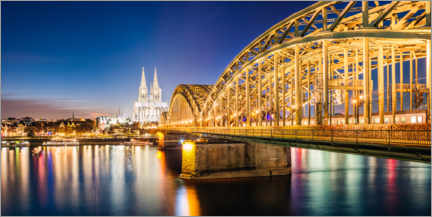 Canvas print  Night in Cologne - Matteo Colombo