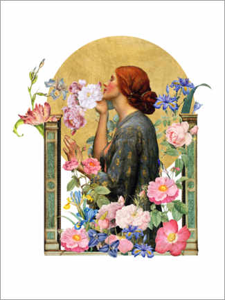 Premium poster The Soul of the Rose - Collage
