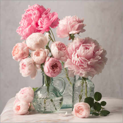 Canvas print  Peonies and roses still life - The Salted Image