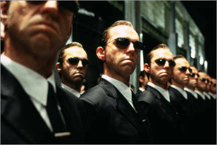 Hout print  The Matrix Revolutions - Multiple Agent Smith