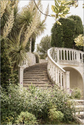 Premium poster  French Vintage Garden Steps In The South Of France - Henrike Schenk