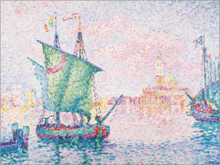 Acrylglas print  Venice - the pink cloud - Paul Signac