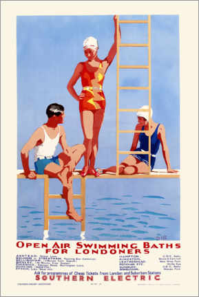 Acrylglas print  Open Air Swimming Baths for Londoners - English School