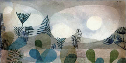 Canvas print  Onderwaterlandschap 1929 - Paul Klee
