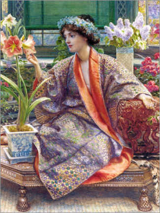 Canvas print  In the greenhouse - Sir Edward John Poynter