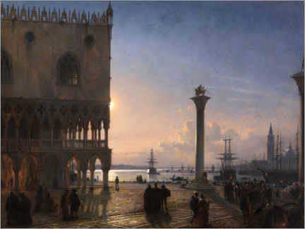 Acrylglas print  Piazza San Marco by moonlight - Friedrich Nerly