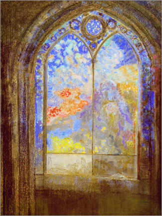 Canvas print  Church window - Odilon Redon