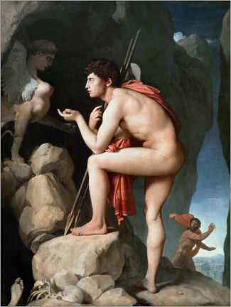 PVC print  Oedipus and the Sphinx - Jean Auguste Dominique Ingres
