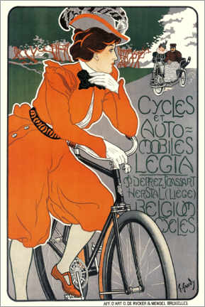 PVC print  Bicycles and automobiles - Georges Gaudy