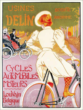 Gallery print  Bicycles, cars and engines, Belgium - Georges Gaudy