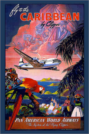 Acrylglas print  Fly to Caribbean by clipper - Travel Collection