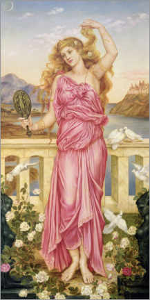 Acrylglas print  Helena of Troy - Evelyn De Morgan