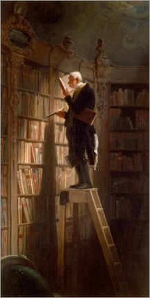 Acrylglas print  The bookworm - Carl Spitzweg