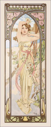 Acrylglas print  Times of the Day - Brightness of Day - Alfons Mucha