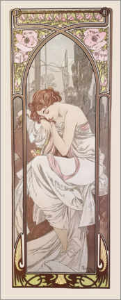 Acrylglas print  Night's rest, times of the day series - Alfons Mucha