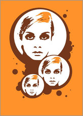 Gallery print  Twiggy Mathmos Orange - JASMIN!