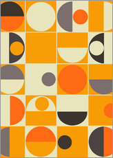 Muursticker  Panton orange - Mandy Reinmuth