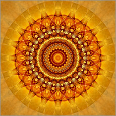 Gallery print  Mandala bright yellow - Christine Bässler