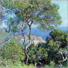 Hout print  Bordighera - Claude Monet