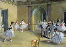 Gallery print  The Dance Foyer at the Opera on the rue Le Peletier - Edgar Degas
