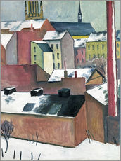 Gallery print  The Church of St Mary in Bonn in Snow - August Macke