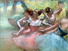 Gallery print  Four ballerinas on the stage - Edgar Degas
