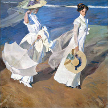 Muursticker  Strandwandeling - Joaquin Sorolla y Bastida