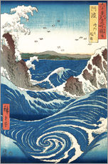 Gallery print  View of the Naruto whirlpools, Awa - Utagawa Hiroshige
