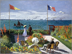 Gallery print  Terras in Sainte-Adresse - Claude Monet