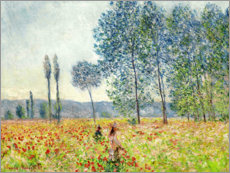 Acrylglas print  Under the Poplars - Claude Monet