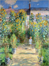 Canvas print  De tuin van Monet in Vétheuil - Claude Monet