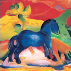 Premium poster  The little blue horse - Franz Marc