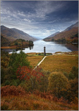Muursticker  Glenfinnan Monument - Scotland - Martina Cross