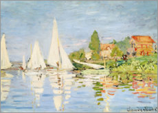 Aluminium print  Regatta boats in Argenteuil - Claude Monet