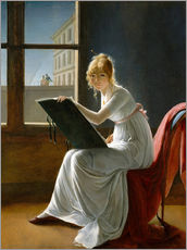 Muursticker  Young Woman Drawing - Marie-Denise Villers
