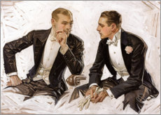 Premium poster  Edele heren in smoking - Joseph Christian Leyendecker