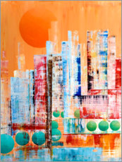 Premium poster Skyline New York, abstract