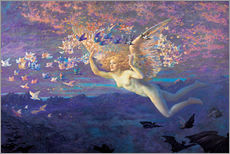 Muursticker  Wings of the Morning - Edward Robert Hughes