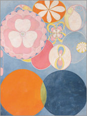 Aluminium print  De Tien Grootste, nr. 2, De Kindertijd - Hilma af Klint