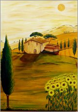 Gallery print  Sunflowers in Tuscany - Christine Huwer
