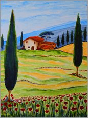 Gallery print  Flowering Poppies of Tuscany 4 - Christine Huwer
