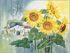 Muursticker  Rays of sun flowers - Franz Heigl