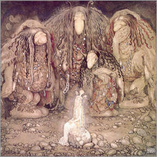Muursticker  The shining princess - John Bauer